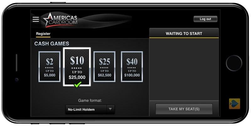 America's Cardroom Mobile Poker