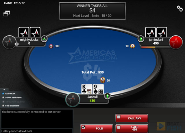ACR Jackpot Sit & Go