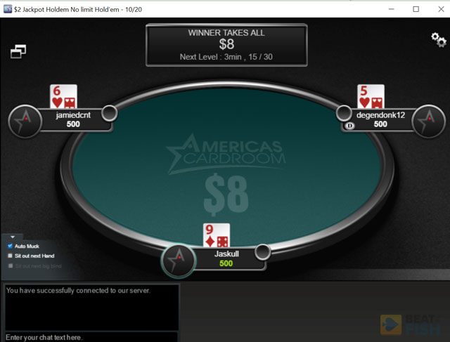America's Cardroom Jackpot Poker
