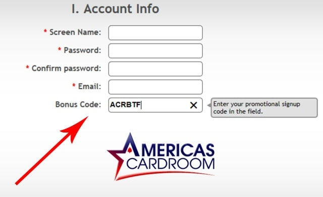 America's Cardroom Code Promotion