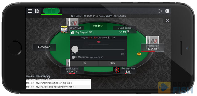 Betting at a BetOnline Mobile Table