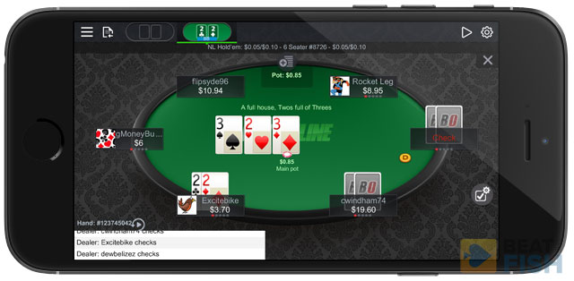 BetOnline Poker Mobile on iPhone