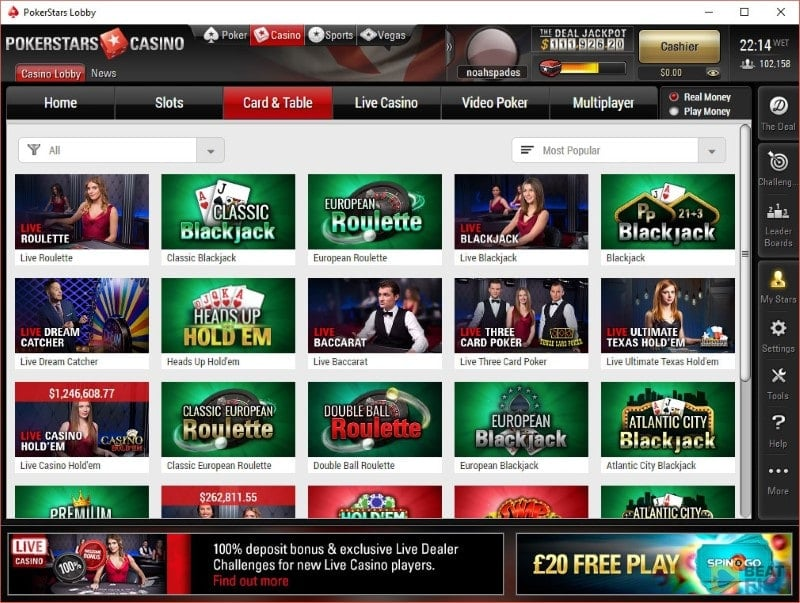 PokerStars Casino Games