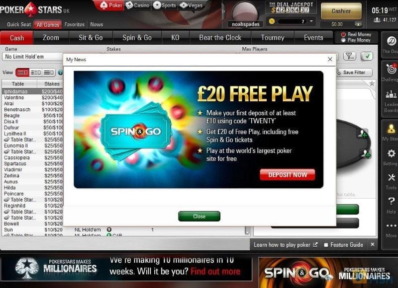 PokerStars Free Bonus