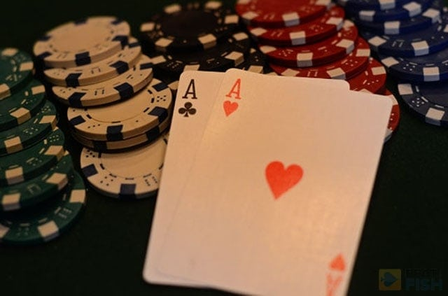 As long as you do everything correctly and get your money in the middle as a favorite, don't worry about getting pocket aces cracked. The luck will even itself out in the long run