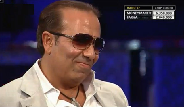 Sammy Farha, a seasoned pro, fell victim of Moneymaker's big bluff. The rest is history.