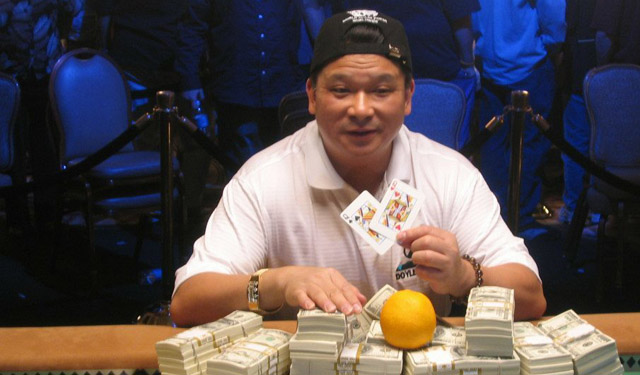 Johnny Chan and his lucky (but also practical) orange