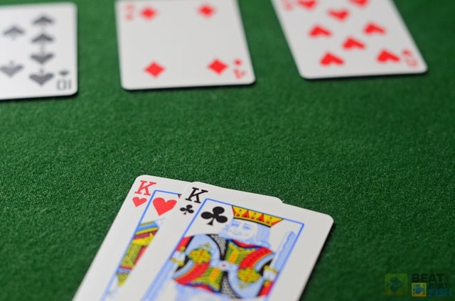 No cheap flops: if you let too many players see the flop when holding pocket Kings or Queens, your odds to win will diminish severely