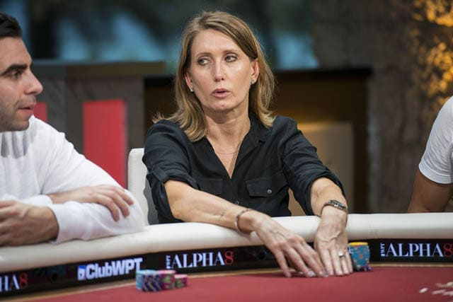 Kathy Lehne, the only lady with a shot at the Super High Roller 2016 title (source: flickr.com)