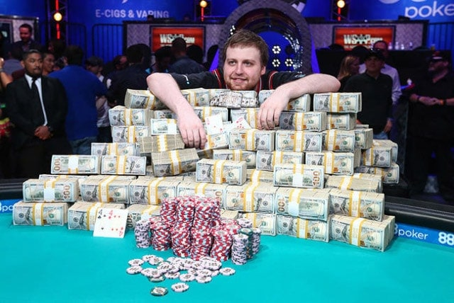 Joe McKeehen, 2015 WSOP Main Event winner, claimed nearly $7.7 million for his efforts (source: Chase Stevens, reviewjournal.com)