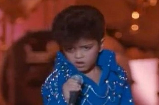 Fun '90s factoid: a young Bruno Mars has a spot in Honeymoon in Vegas