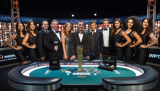 Farid Yachou claimed the victory in the super strong field of the inaugural Monster WPT Tournament of Champions (source: worldpokertour.com)