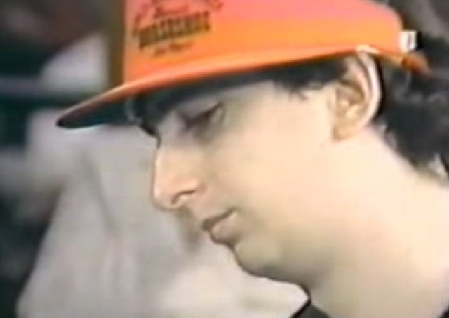 """Young Erik Seidel, just moments before the all-in move against Johnny Chan, immortalized in the movie """"Rounders"""""""