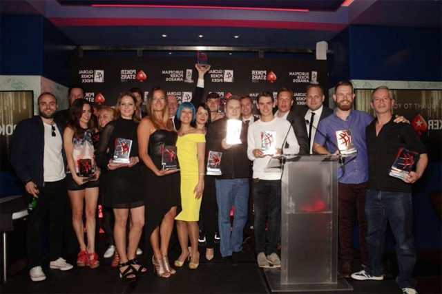 All European Poker Awards winners for 2016 together. Photo by europeanpokerawards.com