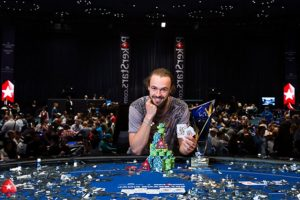 Coming on the wings of his victory in the €100k Super High Roller, Ole Schemion is going for his second victory against Fabian Quoss (source: PokerStars Blog)