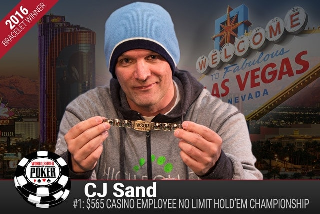 Christopher Sand became the first WSOP 2016 bracelet winner after outlasting the field of 731 players in the Casino Employees event