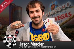Jason Mercier dominating the WSOP 2016 with two bracelet wins and one runner-up finish, with almost half the Series still to go