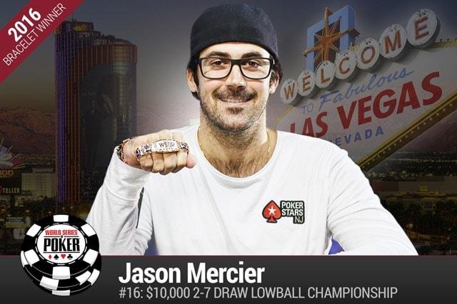 Jason Mercier wins his fourth WSOP bracelet in the $10,000 Deuce to Seven Lowball Championship