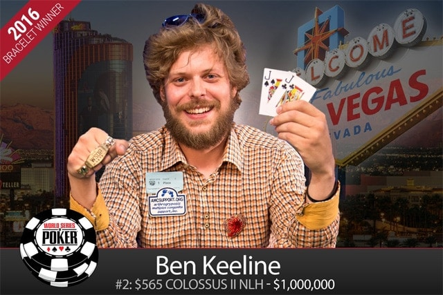 Ben Keeline, the WSOP 2016 Colossus winner, clawed his way back in the tournament from a single 500 chip