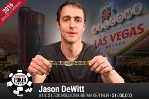Jason DeWitt, winner of the Millionaire Maker event and one of the two newest WSOP millionaires