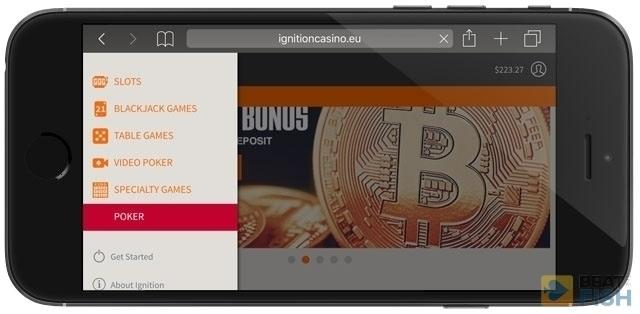 Choosing Poker at Ignition Poker App