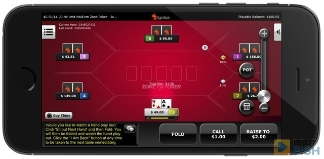 Ignition Poker App Table
