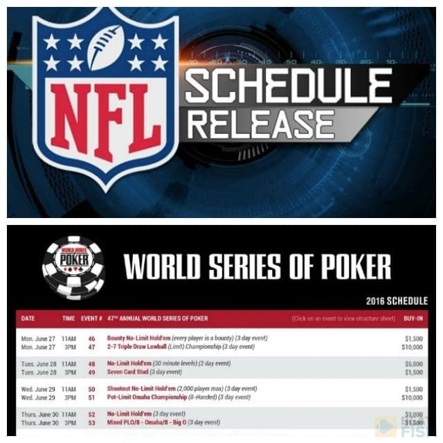world series of poker tournament schedule