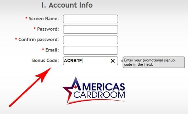 Americas Card Room Bonus Code