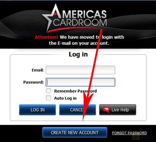 Create New Account at ACR
