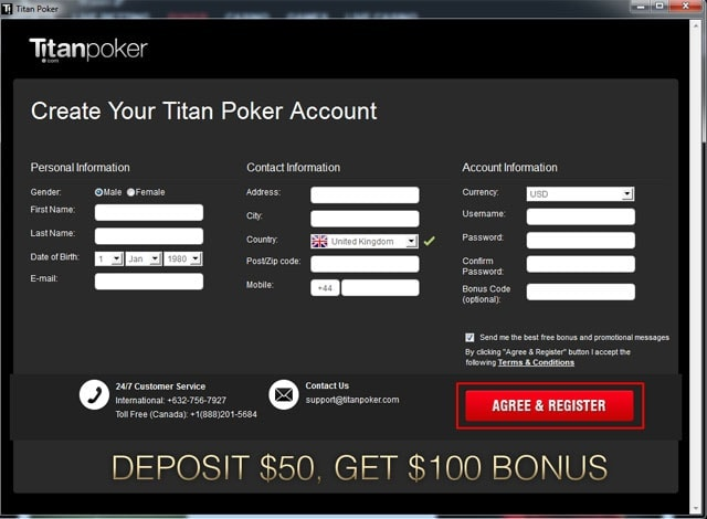 Titan Poker Registration