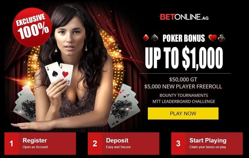 BetOnline Poker 100% Bonus