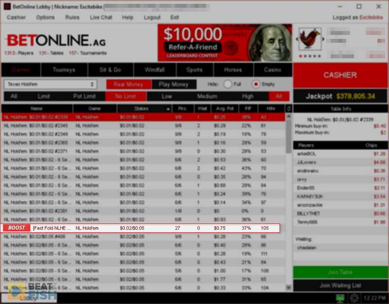 BetOnline Poker Boost