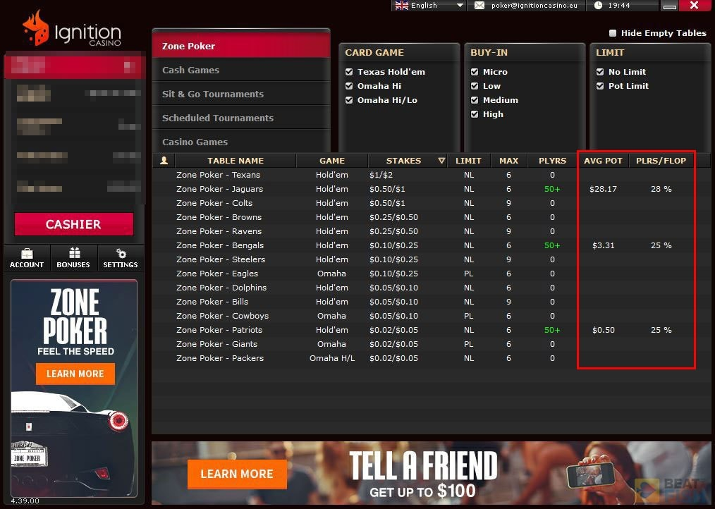 Ignition Poker Easy Games