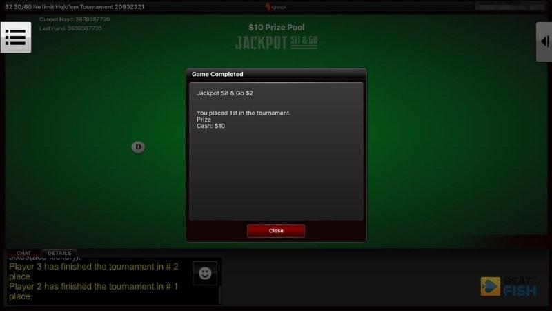 Ignition Poker tournament win