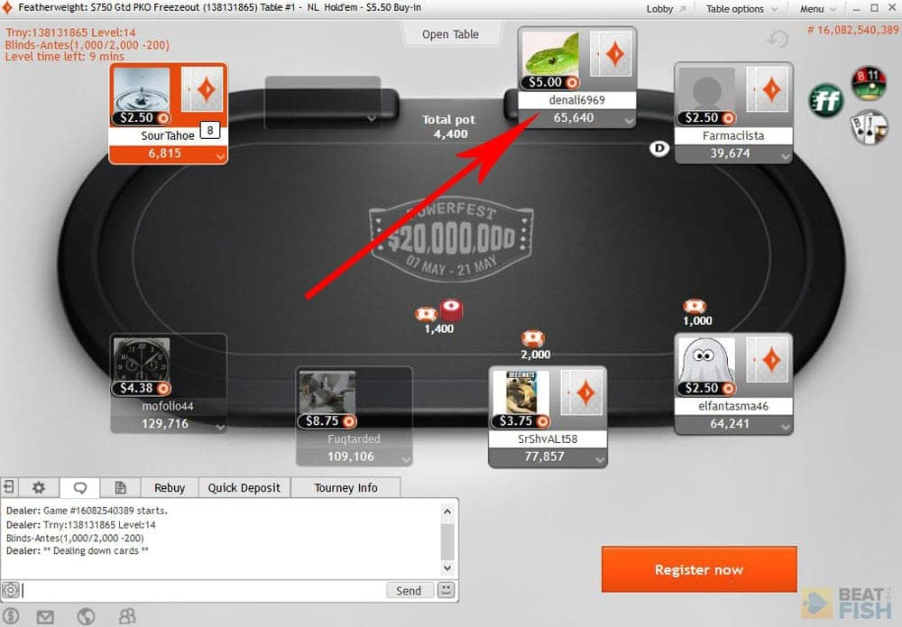 Partypoker Use of Heads-Up Displays