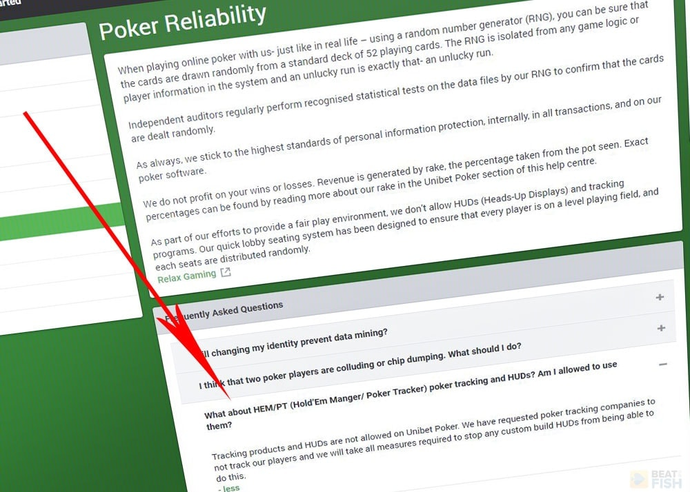 Unibet Poker Bans Heads-Up Displays