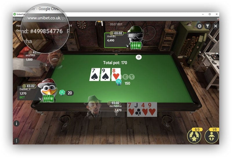 Omaha at Unibet Poker