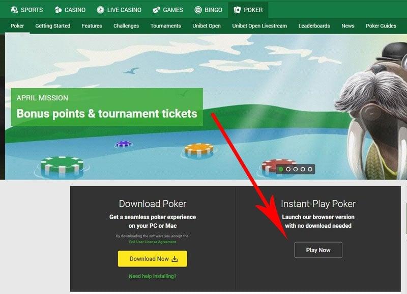 Unibet Poker Instant Play Link