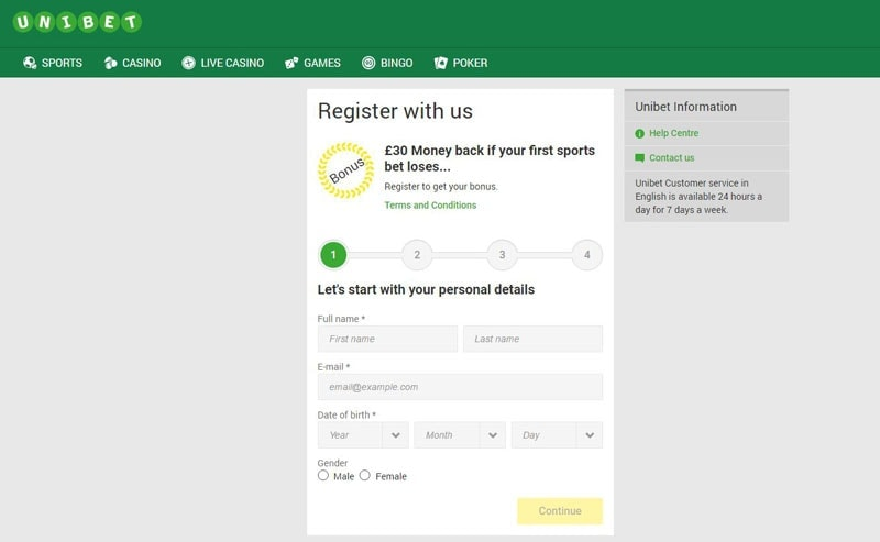 Unibet Poker Signup