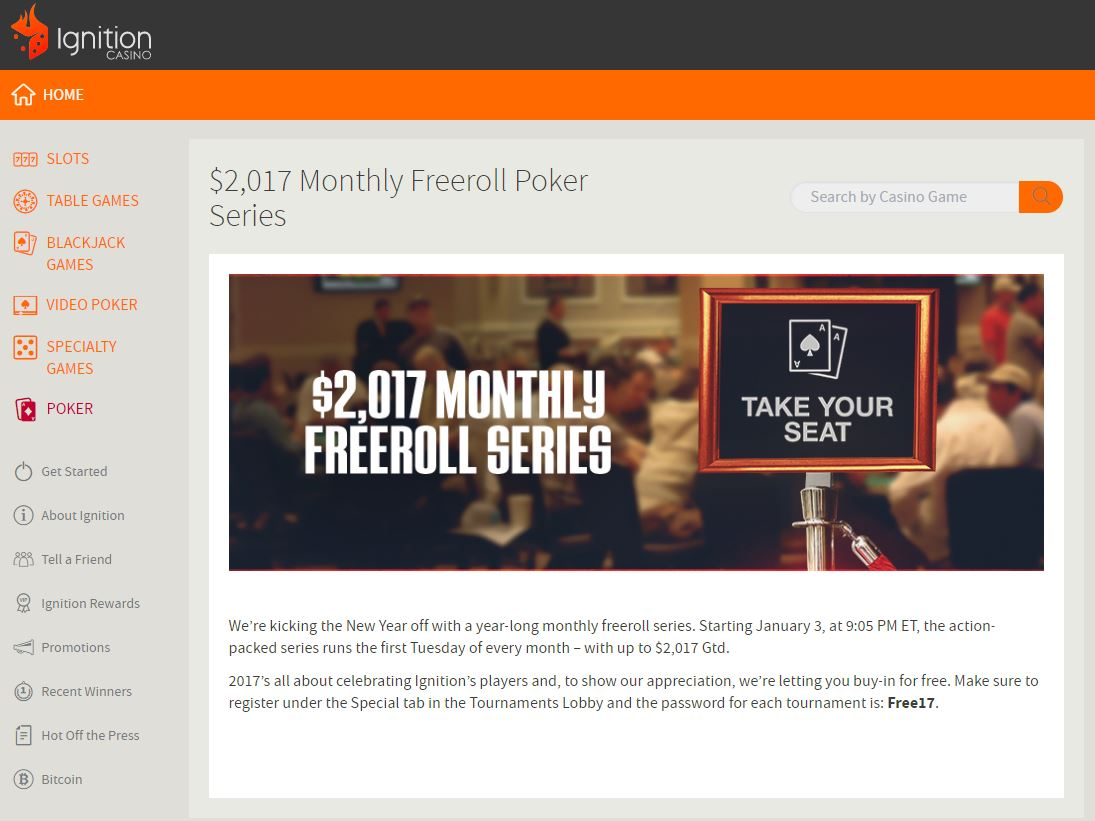 Ignition Newest USA Poker Site