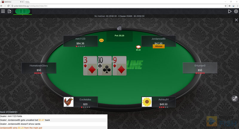 BetOnline Poker without a Download