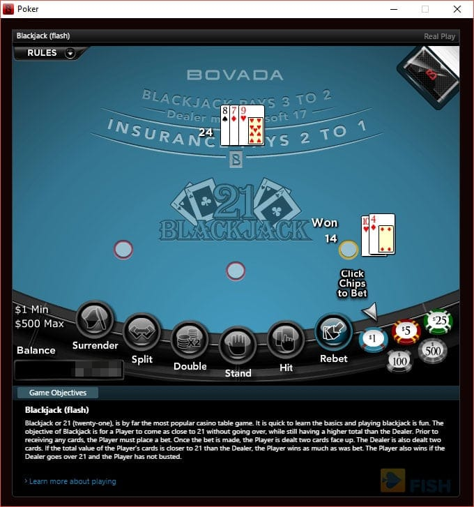 Bovada Poker Blackjack