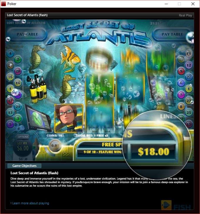 Slots at Bovada Poker