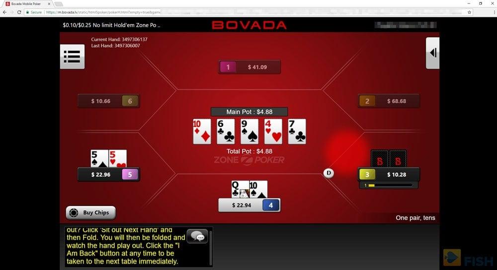 No-Download at Bovada Poker