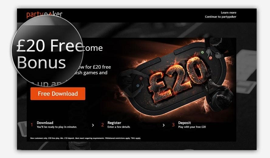 Party Poker Free Bonus Code