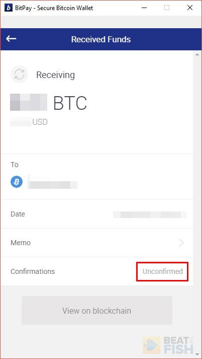Unconfirmed BTC Transaction