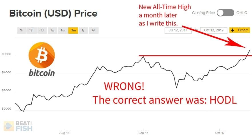 Bitcoin Price HODL