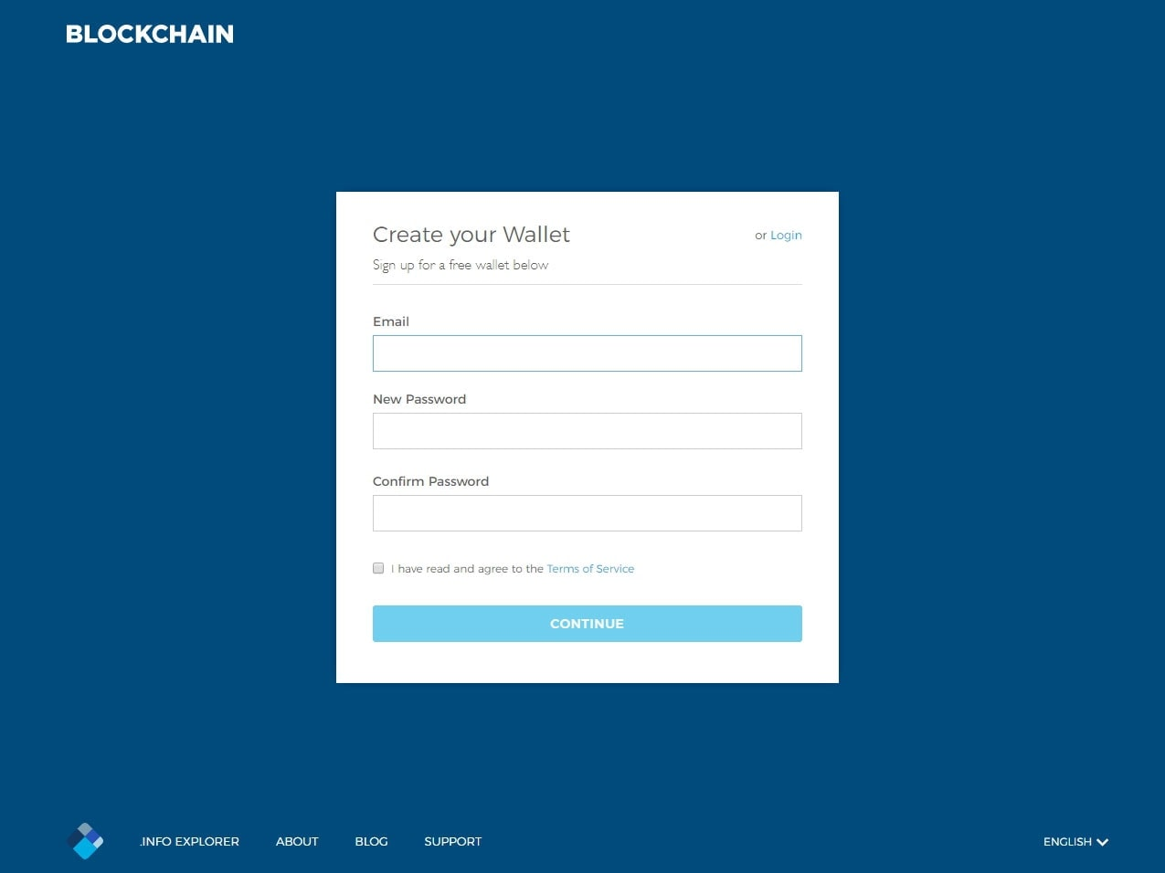 Creating a Blockchain.info Wallet