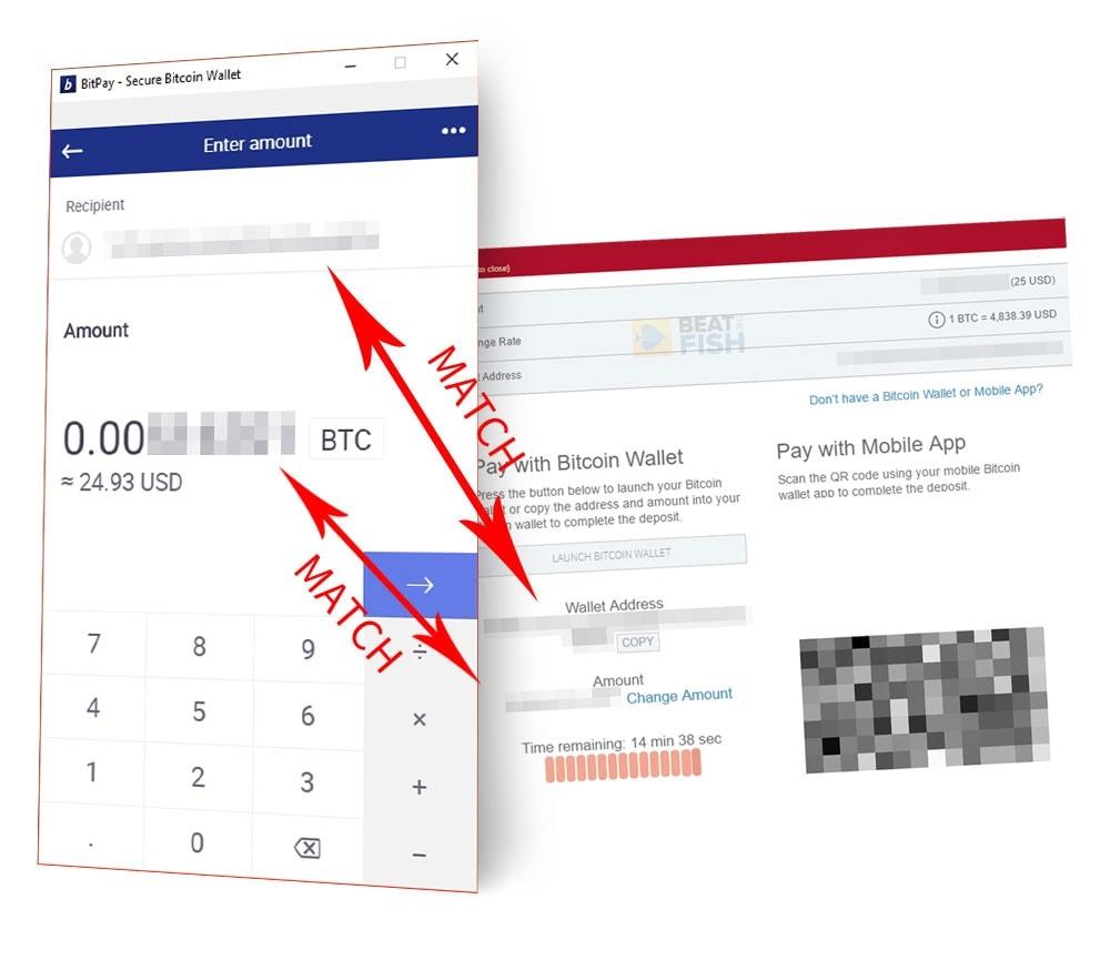 Copying a Bitcoin Poker Deposit Address