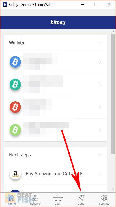Placing the Bitcoin Address